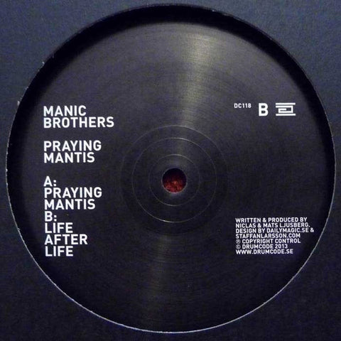 Manic Brothers ‎– Praying Mantis Drumcode ‎– DC118