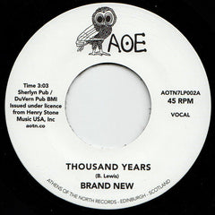 "Brand New - Thousand Years / Party Time 7"" Athens Of The North ‎– AOTN7LP002"