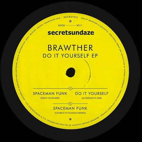 "Brawther ‎– Do It Yourself EP 12"" Secretsundaze ‎– SECRET001"