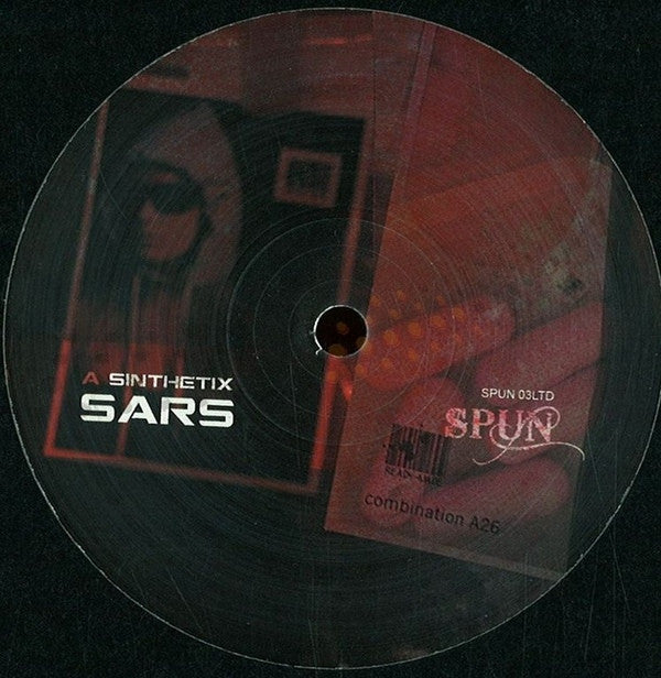 "Sinthetix / Corrupt Souls ‎– Sars 12"" SPUN Records SPUN 03LTD"