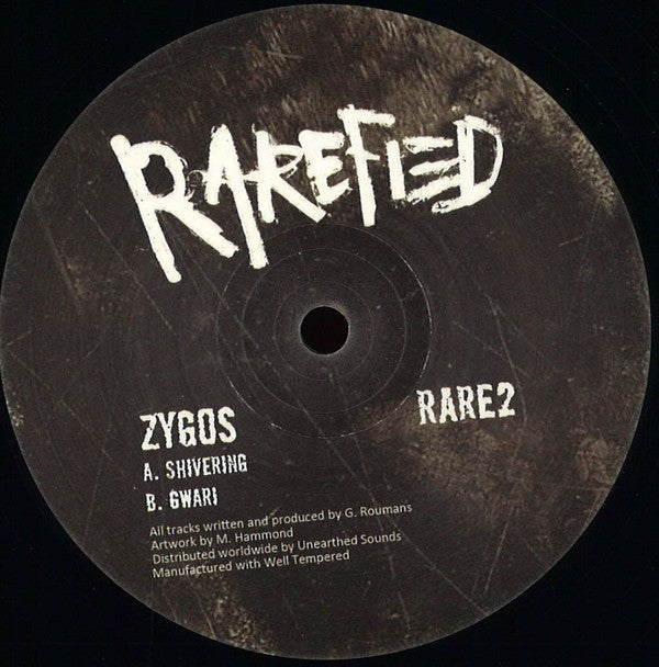 Zygos ‎– Shivering - Rarefied ‎– RARE2