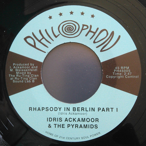 "Idris Ackamoor & The Pyramids - Rhapsody In Berlin 12"" Philophon ‎– PH45005"