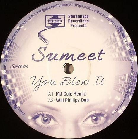 "Sumeet - You Blew It 12"" Stereohype Recordings SH004"