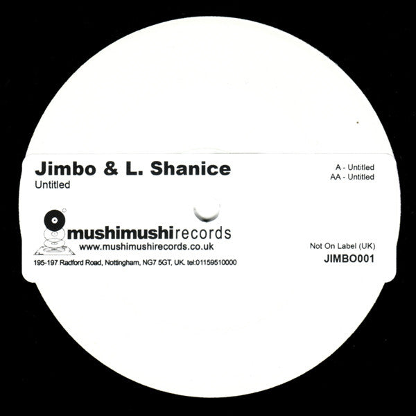 "Jimbo & L. Shanice - Untitled 12"", W/Lbl Not On Label JIMBO 001"