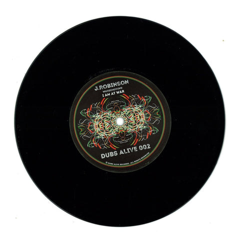 "J Robinson WhoDemSound - I Am At Peace / I Am At War 7"" Dubs Alive ‎– DUBSALIVE002"
