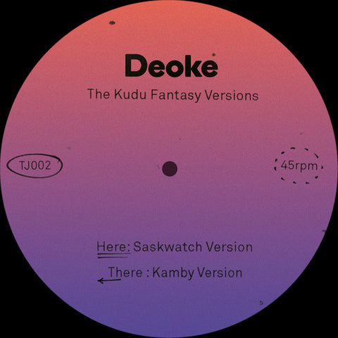 Deoke ‎– The Kudu Fantasy Versions - Tiff's Joints ‎– TJ002