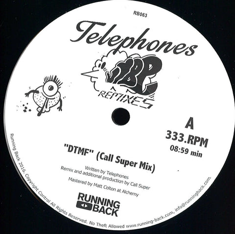"Telephones ‎– Vibe Remixes 12"" Running Back ‎– RB063"