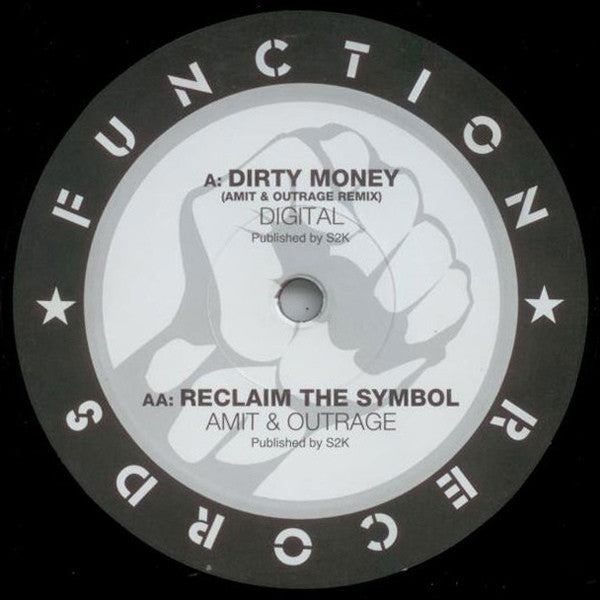 "Digital / Amit & Outrage - Dirty Money / Reclaim The Symbol 12"" Function ‎CHANEL9631"