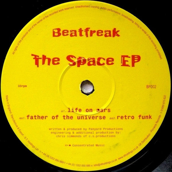 "Panyard Productions - The Space EP 12"" Beatfreak BF002"