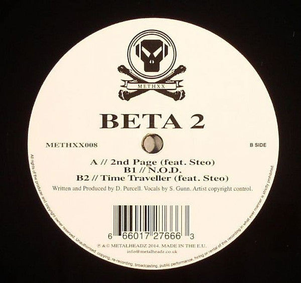 "Beta 2 ‎– 2nd Page (feat. Steo) 12"" Metalheadz ‎– METHXX008"