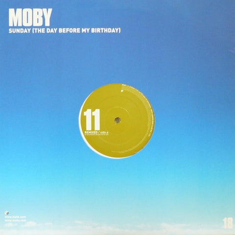 "Moby - Sunday (The Day Before My Birthday) 2x12"" Mute P12MUTE280"