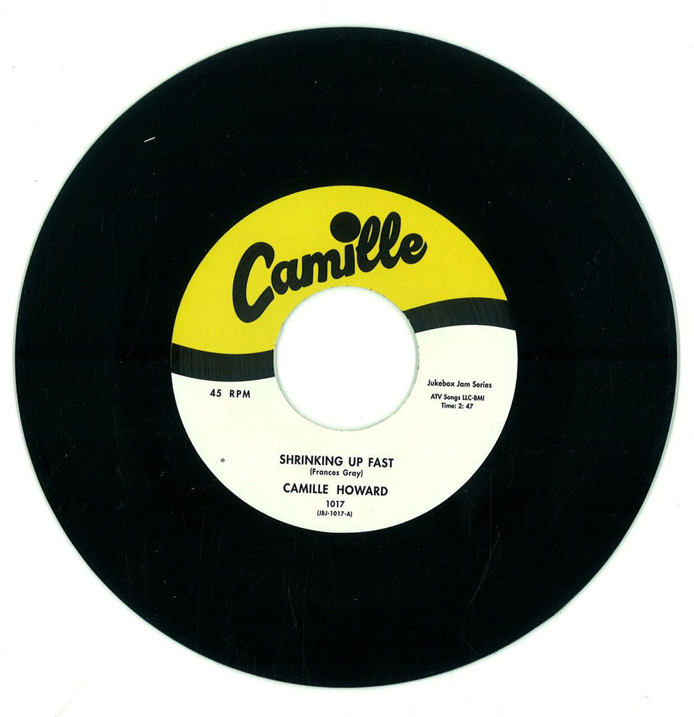 "Camille Howard ‎– Shrinking Up Fast / Please Don't Stay Away Too Long 7"" Jukebox Jam Series ‎– JBJ-1017"