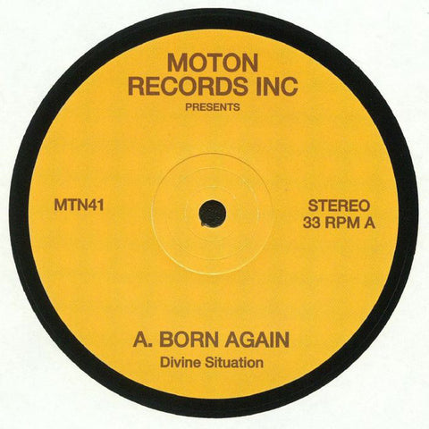 Divine Situation ‎– Born Again - Moton Records Inc ‎– MTN41