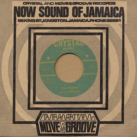 David Anthony / Derrick Harriott & The Crystalites ‎– All Night / The Tickler - Crystal Records, Dub Store Records ‎– DSR-DH7-010