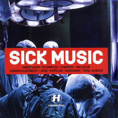 Various ‎– Sick Music - Hospital Records ‎– NHS154LP