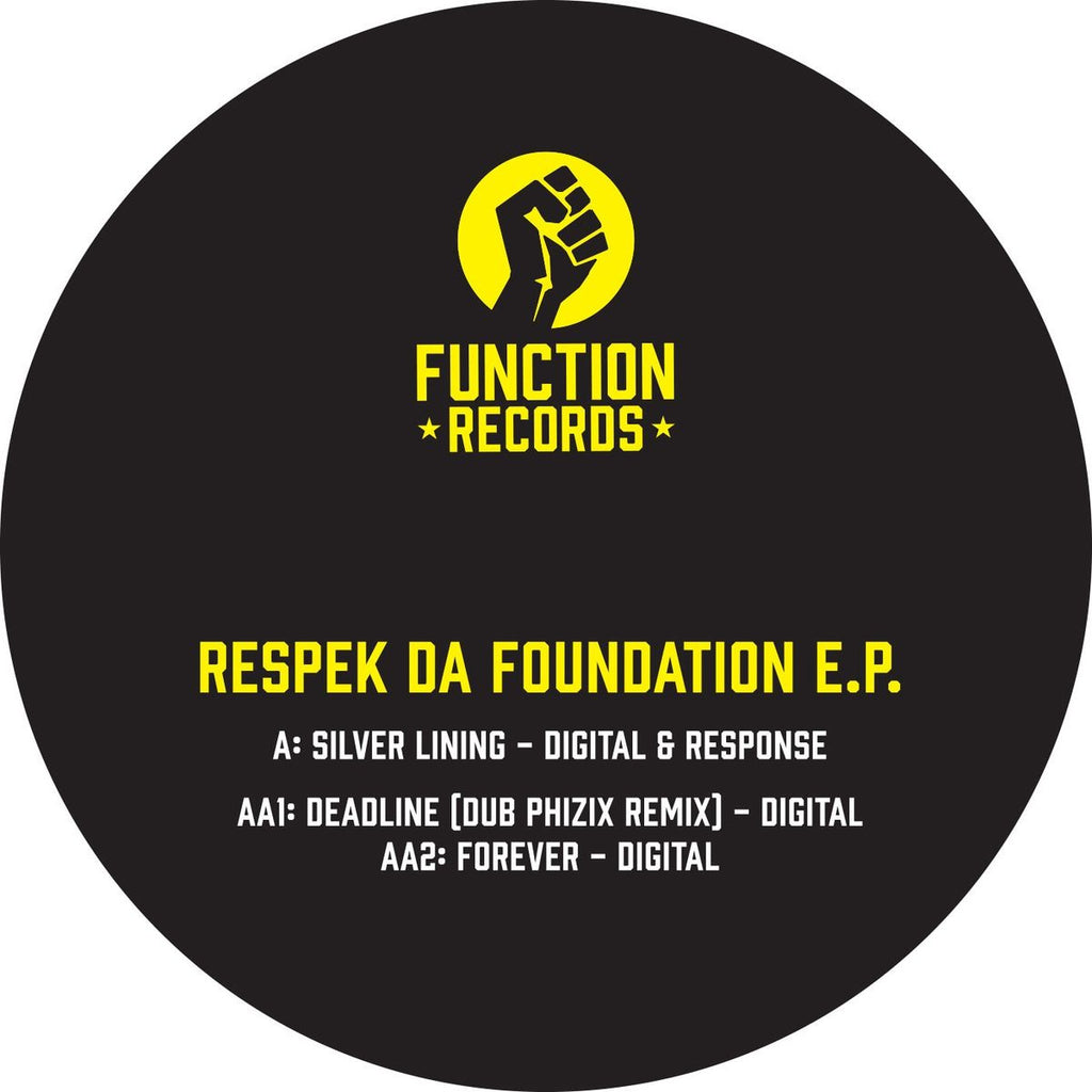 "Digital - Respek Da Foundation EP 12"" Function FUNC035"