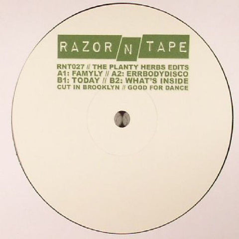 "The Planty Herbs ‎– The Planty Herbs Edits 12"" Razor N Tape ‎– RNT027"