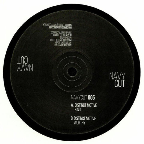 Distinct Motive ‎– King - Navy Cut ‎– NAVYCUT 005