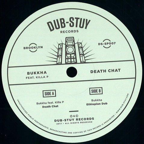"Bukkha ‎– Death Chat 12"" Dub-Stuy Records ‎– DS-SP007"