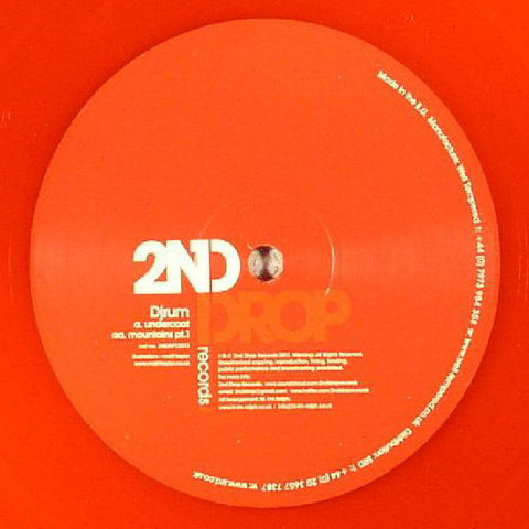 "DjRum ‎– Mountains EP (Part 1) 12"" 2nd Drop Records ‎– 2NDRP12013 REPRESS Red Vinyl"