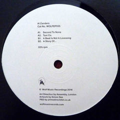 "Al Zanders ‎– Second To None 12"" Wolf Music Recordings ‎– WOLFEP035"