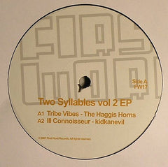 "Various ‎– Two Syllables Vol 2 EP 12"" First Word Records ‎– FW17"