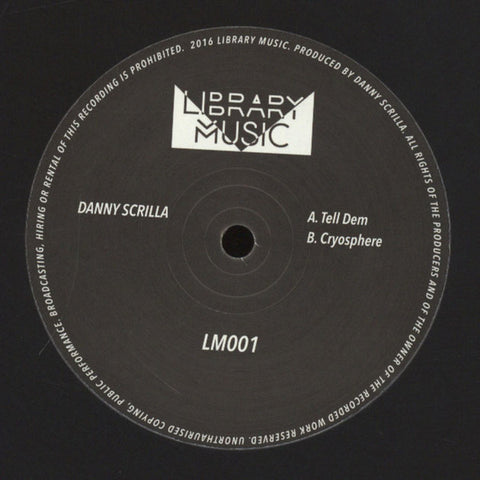 "Danny Scrilla ‎– Tell Dem 12"" Library Music - LM001"