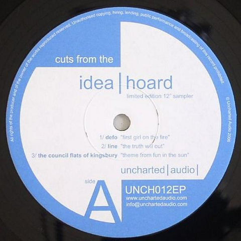 "Various ‎– Cuts From The Idea Hoard 12"" Uncharted Audio ‎– UNCH012EP"