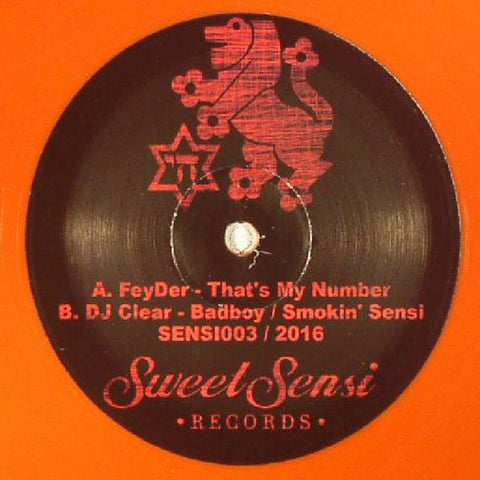 FeyDer ‎– That's My Number - Sweet Sensi Records ‎– SENSI003