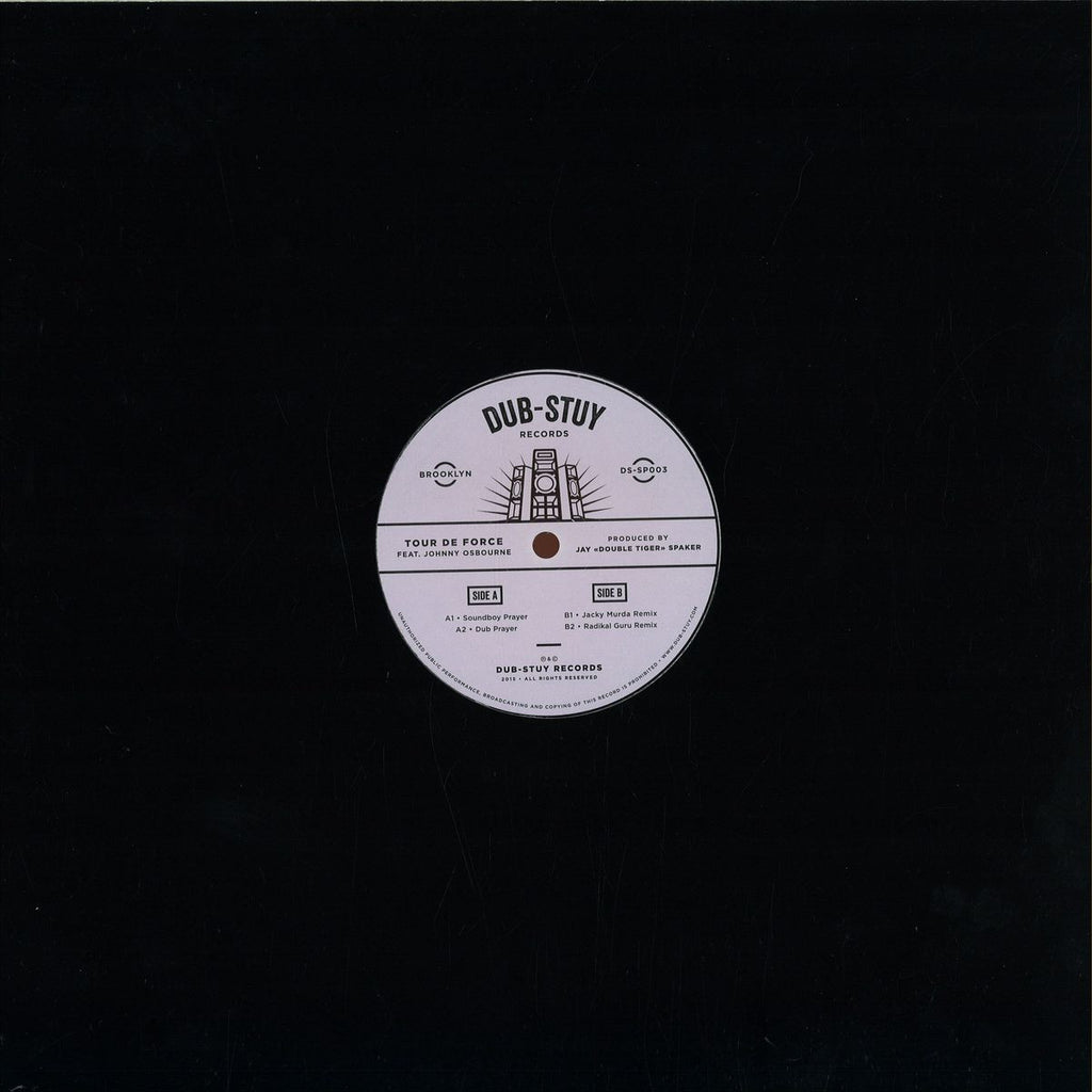 "Tour De Force, Johnny Osbourne ‎– Soundboy Prayer 12"" Dub-Stuy Records ‎– DS-SP003"