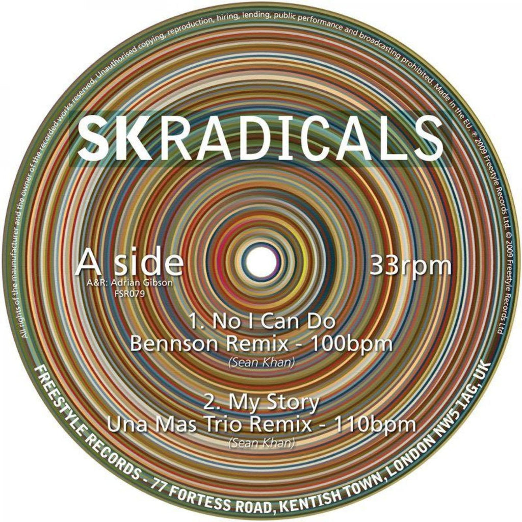 "SK Radicals ‎– No I Can Do 12"" Freestyle Records - FSR079"