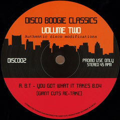 "Various ‎– Disco Boogie Classics - Volume Two 12"" Disco Boogie Classics ‎– DISC002"