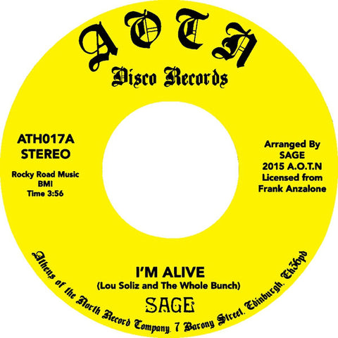 Sage - I'm Alive / Song For Yvonne - Athens Of The North ‎– ATH017
