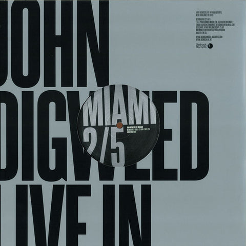 John Digweed ‎– Live In Miami 2/5 - Bedrock Records ‎– BEDMIAVIN2
