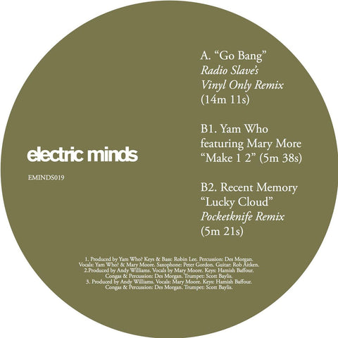 "Various ‎– Go Bang 12"" Electric Minds ‎– EMINDS019"