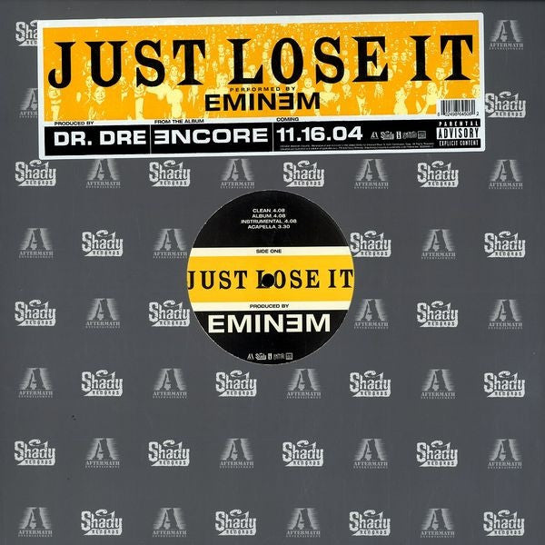"Eminem - Just Lose It 12"" Aftermath Entertainment INTR - 11246, B0003684-11"