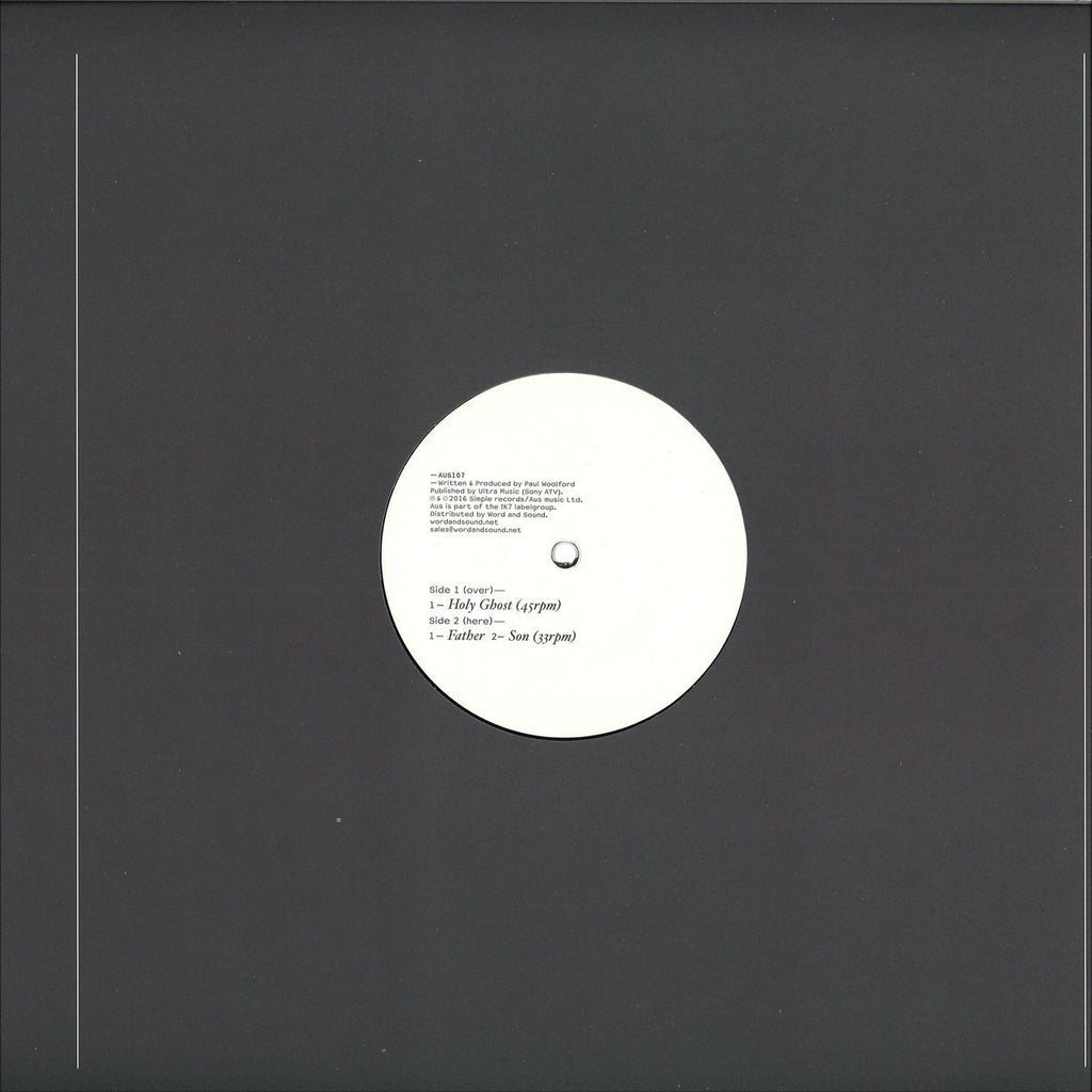 "Paul Woolford ‎– Father, Son & Holy Ghost 12"" Aus Music ‎– AUS107"