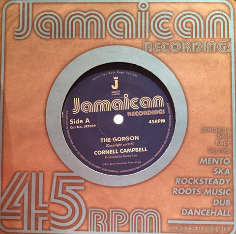 "Cornell Campbell ‎– The Gorgon 7"" Jamaican Recordings ‎– JR7029"