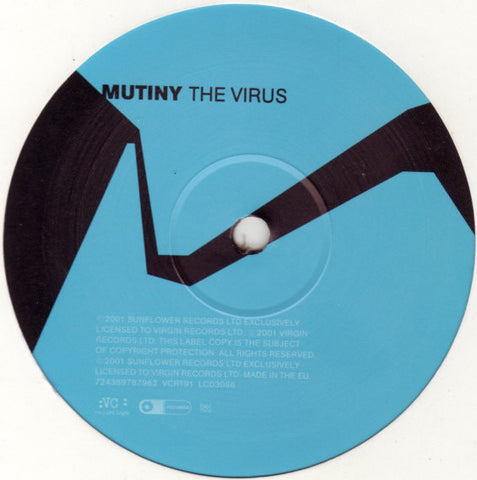 "Mutiny ‎– The Virus 12"" VC Recordings ‎– VCRT 91"