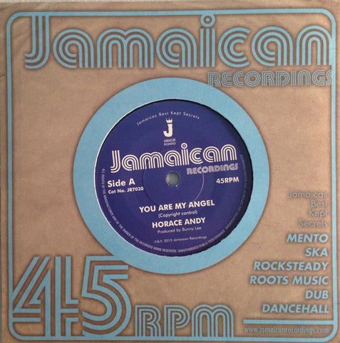 "Horace Andy ‎– You Are My Angel 7"" Jamaican Recordings ‎– JR7030"