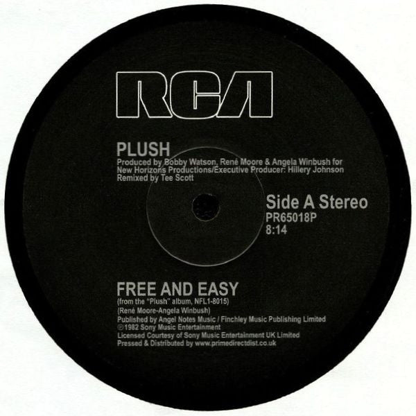 Plush ‎– Free And Easy - RCA ‎– PR65018P