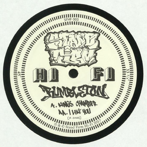 "Rumbleton ‎– Kings Chamber / I Like You 12"" Stand Firm Hi-Fi ‎– SFHF 003"