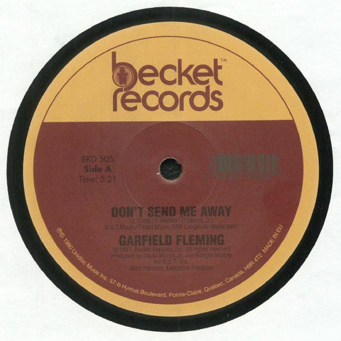 Garfield Fleming ‎– Don't Send Me Away - Becket Records ‎– BKD 505