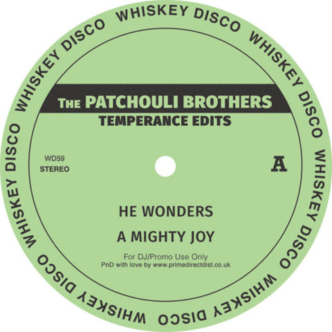 The Patchouli Brothers ‎– Temperance Edits - Whiskey Disco ‎– WD59