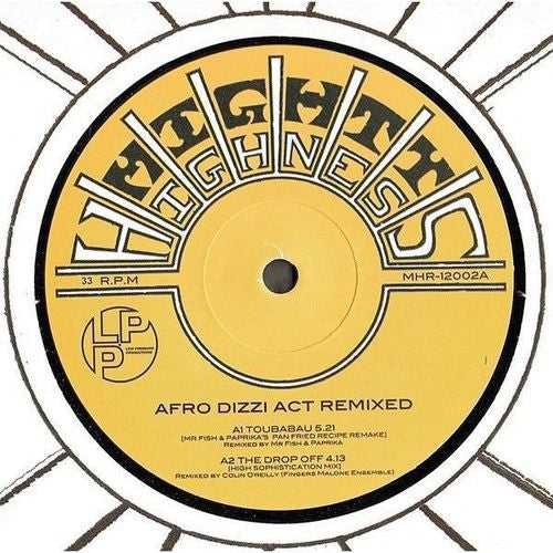 "Afro Dizzi Act ‎– Afro Dizzi Act Remixed 12"" Mighty Highness ‎– MHR-12002"