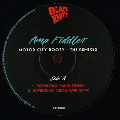 "Amp Fiddler ‎– Motor City Booty - The Remixes 12"" Midnight Riot Recordings ‎– BR001"