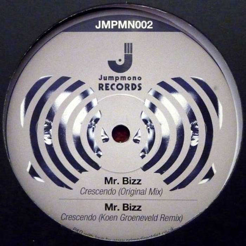 "Mr. Bizz ‎– Crescendo 12"" Jumpmono Records ‎– JMPMN002"