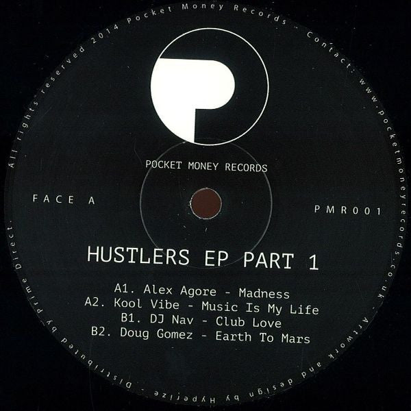 "Various - Hustlers EP Part 1 12"" Pocket Money Records PMR001"