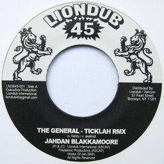 "Jahdan Blakkamoore / Ticklah Vs. Victor Rice ‎– The General (Ticklah Remix) / Elimination Game 7"" Liondub45 ‎– LNDB45-001"