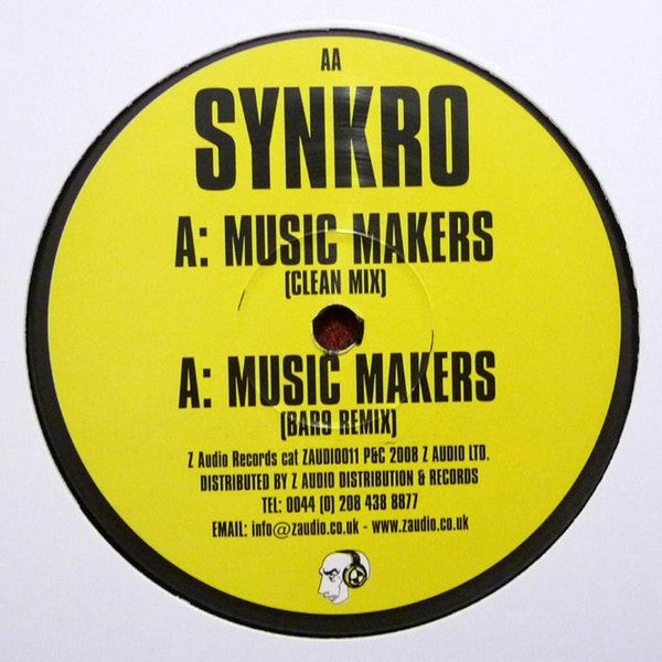 "Synkro - Music Makers 12"" Z Audio ZAUDIO 011"